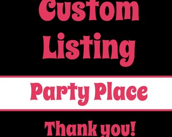 Custom Listing for Shannon