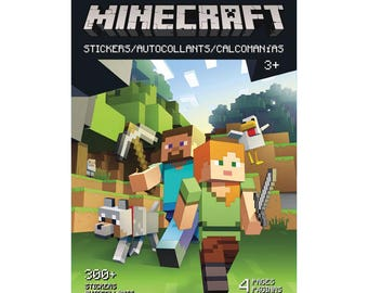 Minecraft Stickerland Pad (4 pages • 300 Stickers) Minecraft Birthday Party (ST5297)