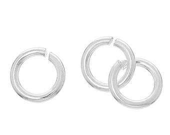 30% Retirement Closeout - 5mm OR 6mm, STERLING SILVER, Jump Rings, 19 Gauge, 10 Pieces, 5Ri84-1905