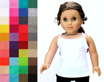 Fits like American Girl Doll Clothes - The Essential Cami, You Choose Color | 18 Inch Doll Clothes