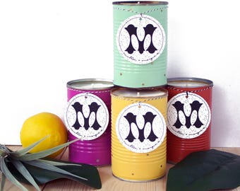 Soy Candle Set of 4 - 15 oz. Spring and Summer Soy Candles. Soy Wax Candles. Unique Candle Scents. Best Soy Candles.