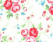 White Floral Main 31425 10 Fabric by Lecien Flower Sugar Paisley Wind