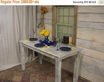 "ON SALE Driftwood Table (80"" x 36"" x 30 or 36""H) (WhiteWashed & Polycrylic)(Custom request New pictures soon)"