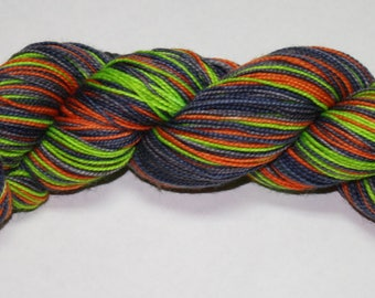 Ready to Ship - Witching Hour Self Striping Hand Dyed Sock Yarn - Tough Sock