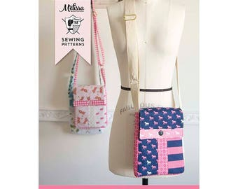 SALE The JUNE BAG Cross Body Bag Sewing Pattern by Melissa Mortenson Tote
