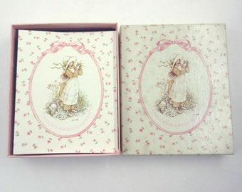 Vintage 1970s Unused Pink Holly Hobbie Blank Note Cards in Original Box by American Greetings