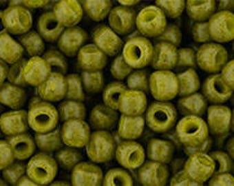 TOHO Japanese Seed Beads - Round 8/0 : 2601F Semi Glazed - Olive - choose your gram weight