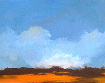 ACEO 1733 , Miniature art, oil painting, original, landscape, 100% charity donation, oil painting on Huile