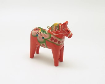Vintage Dala Horse Ornament Nils Olsson Sweden Christmas Ornament