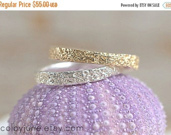 40% Off Gold Vermeil Thin Coral Ring  Stacking Ring   Vermeil Ring