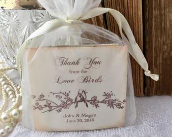 Wedding Favors Love is Brewing Tea Bag Favors Set of 10 Fully Assembled Love Birds