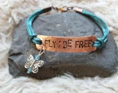 MADE to ORDER for CYNTHIA hand stamped copper bracelet