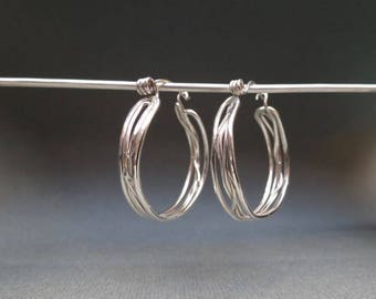 Open Twisted Hoop Earrings