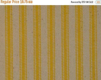 SALE SALE SALE Ticking Material | Ticking Fabric | Stripe Material | Pillow Ticking | Vintage Look Ticking | Sun Yellow Ticking Fabric | 25