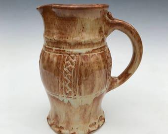 Medieval Pitcher, in earthtone glazes