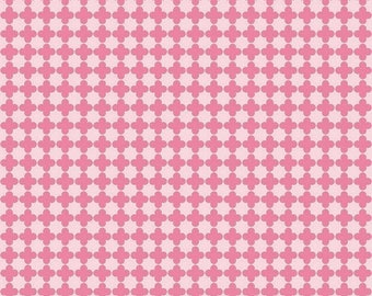 20EXTRA 30% OFF Riley Blake Mini Quatrefoil Pink/Hot Pink - 1/2 Yard