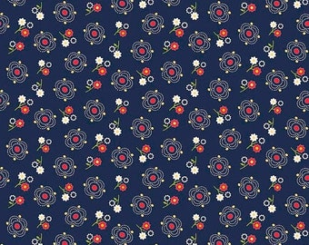 ON SALE Penny Rose Fabrics Gingham Girls By Amy Smart Main Navy