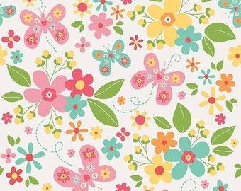 20%OFF Riley Blake Designs Garden Girl by Zoe Pearn - Main White