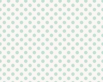 20%OFF Riley Blake Designs Garden Girl by Zoe Pearn - Dot Mint