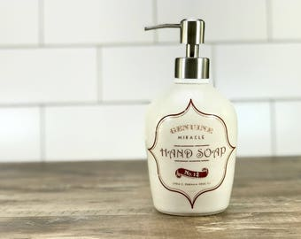 white porcelain soap dispenser apothecary label soap dispenser ceramic soap dispenser white bathroom - White Bathroom Accessories Ceramic