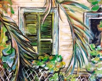 Wall Art - Original Art - Beach Art - Ocean Art - Key West, Florida - Original Painting - Leah Reynolds