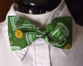 St. Patrick's Day Clip-On Bow Tie