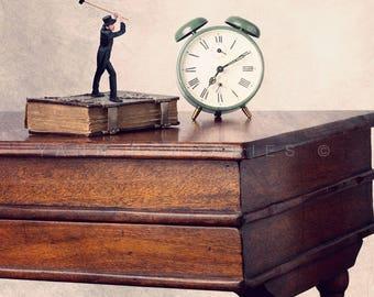 Retro Alarm Clock print, Back To School photography, Teacher Gift Ideas, Children Decor, Bedroom Decor, Time-themed print