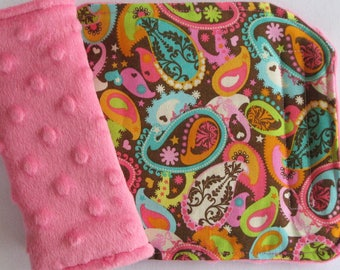 Bright Paisley Reversible Car Seat Strap Covers