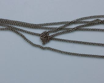Lot of 9 Vintage Silvertone Necklace Chains - Made in Korea - 24 Inch Length High Quality Silver Look Jewelry Chains - NOS - New Old Stock