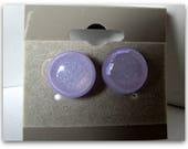 Pâle violet boucles d'oreilles dichroïques, boucles d'oreilles, boucles d'oreilles des verre en fusion, tiges en argent Sterling, accessoires, article n ° 1217