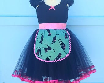 CAT costume for girls, Cat costume for kids, Cat costume for toddler, black cat costume, kitten costume, black cat tutu dress for girls