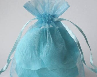STOREWIDE SALE 60 Pack Sheer Organza Drawstring Bags  2.75 X 4 Inch Size Great For Gifts, Favors, Sachets, Weddings