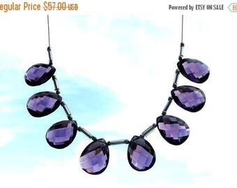 50% Off Sale 8 Pcs as 4 Matched Pair AAA Amethyst Faceted Pear Briolettes Size 16x12mm Approx Finest Quality Wholesale Price