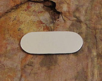 """20 OVAL 1/2"""" x 1 1/4"""" *Choose Your Metal* Aluminum Brass Bronze Copper Nickel Silver Stamping Blanks  Geometric Name Id Tag Enameling Deburr"""