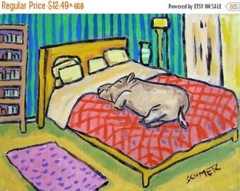 20 % off storewide Hippo sleeping Hippopotamus signed art print animals impressionism gift new bedroom art