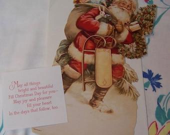 stand up santa christmas card