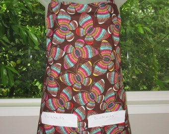 Womens Aprons - Aprons for Women - Rainbow Weave of Butterflies