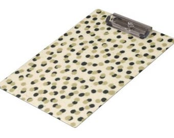 Tan and Gold Dots Clipboard