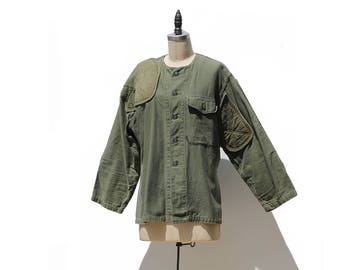 Vintage Army Green Women's Military Field Jacket