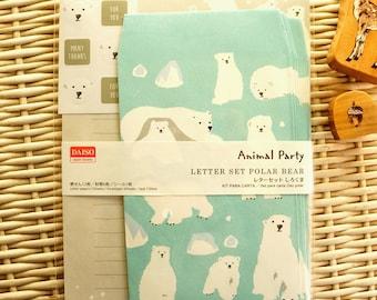 Kawaii Japanese Letter Set - Polar Bear