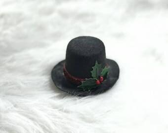 Christmas Headbands Baby Girl, Christmas Mini Top Hat, Christmas Photo Props, Newborn Headbands, Baby Christmas Gift, Hairbows