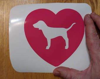 Victoria Secret Pink dog heart love vinyl decal sticker fkr csr truck or yeti tumbler coffee mug skateboard refrigerator laptop