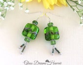 Apple Green Dangle Earrin...
