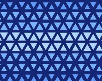 Triangle Ombre Blue Elements Windham Fabric 1 yard
