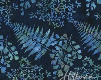 Leaves Lapis Bali Batik Hoffman Fabric