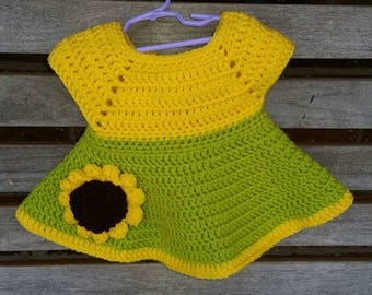 Sunflower Hat, Dress, 0-3 months, ready to ship