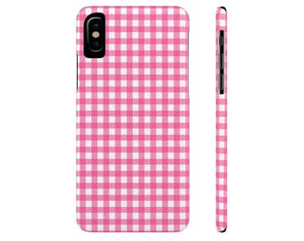 Pink Gingham iPhone 6s Case iPhone 6 Plus Case iPhone 7 Case Checkered Phone Case Galaxy s7 Case Galaxy s6 Case iPhone 6 iPhone 5 Case