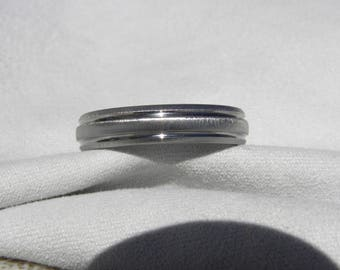 Titanium Ring, Wedding Band, 5mm size 10, Frosted, Clearance