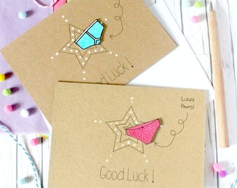 Personalised Good Luck Card. Good Luck. Good Luck Card. Lucky Pants. Y-fronts card. Lucky pants card. Recycled Card. Luck. Luck Card.