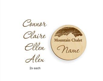 Name badge order for mtnchalet